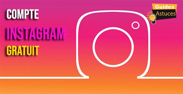 Compte Instagram gratuit