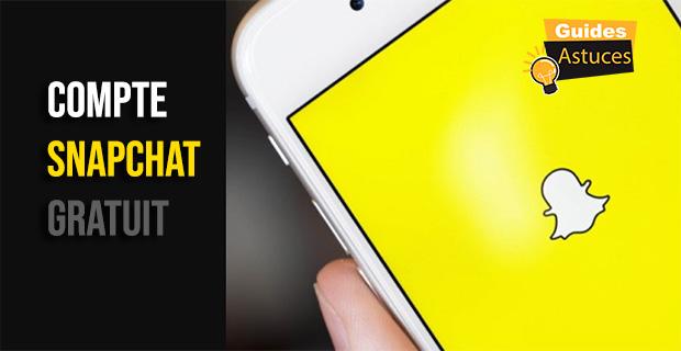 Compte Snapchat gratuit