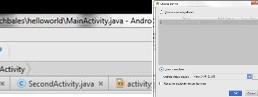 developper application android