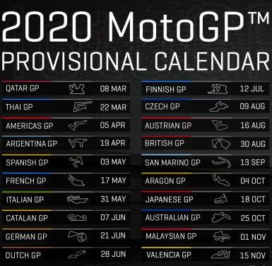 calendrier moto gp