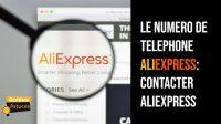 numero de telephone aliexpress